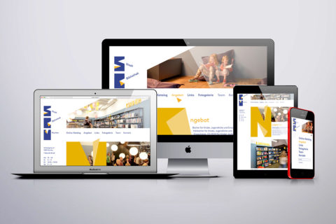 Webdesign der Stadtbibliothek