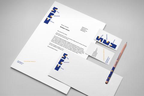 Printmaterial zur Bewerbung der Stadtbibliothek