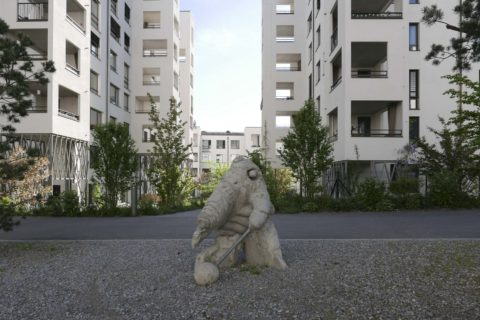 Statue in der Rotach-Siedlung