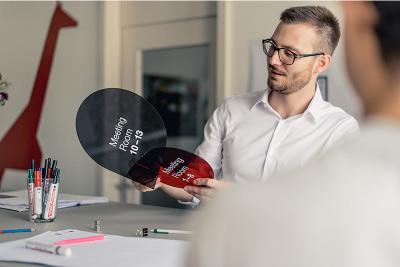 Einblick in die Signaletik Agentur in Zürich